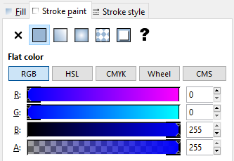 Inkscape Stroke Paint Blue