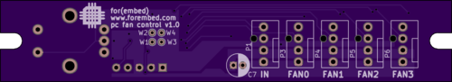 Fan Controller Layout - Top
